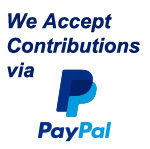 We Accept Contributions via PayPal